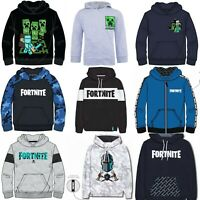 Boys Girls Kids Gamer Minecraft Fortnite Jumper Hoodie Hoody Sweatshirt 6-16 Yrs