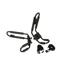 RUK Heavy Duty J Bars Kayak Car Roof Carriers Pair includes Straps