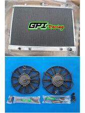 GPI Racing Aluminum Radiator for Nissan Pintara Skyline R31 AT/MT & 2× fans