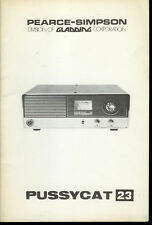Orig Factory Pearce Simpson Pussycat 23 Channel Cb Radio Owner's Service Manual