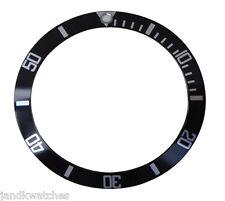 Black & Silver Bezel Insert to Fit Rolex Submariner 16800