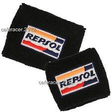 REPSOL HONDA CBR BRAKE/CLUTCH RESERVOIR SOCKS FLUID TANK COVER BLACK 1000RR 600