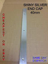 SHINY SILVER END CAP 40mm Kitchen Worktop Edging Trim WITH SCREWS*SPECIAL OFFER*