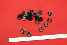 """Lot of 25 Plastic Screw washer or cap for 10-32 rack mounting screws 3/8"""" by 1/2"""