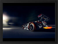 AUDI APR R8 NEW A3 FRAMED PHOTOGRAPHIC PRINT POSTER