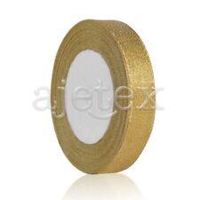 "25 Yards 5/8""15mm Gold Sheer Organza Ribbon Craft Hair Bows Wedding Décor IF"