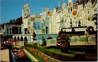 Vintage Postcard A Gala Toy Parade It's A Small World Disneyland California