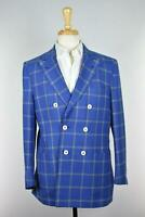 Isaia Mens Double Breasted Wool Silk Linen Blazer Jacket Sport Coat 40 R Worn 1s