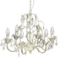 Shabby Vintage Chic Cream Chandelier Ceiling Light Crystal Home Decor