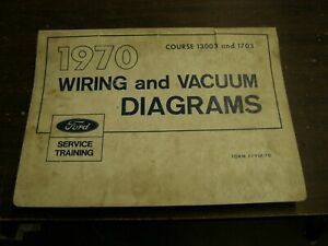 OEM Ford 1970 Wiring Diagram Book Mustang Cougar Galaxie Torino F100 Shop Manual