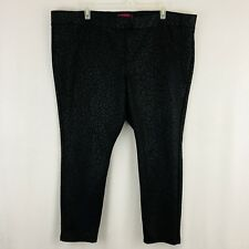 Pure Energy Pull On Skinny Pants Plus Size 4X Black Cheetah Print Elastic Waist