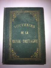 SOUVENIRS DE LA BASSE BRETAGNE ALBUM DE 23 LITHOGRAPHIES VERS 1840 PERCALINE
