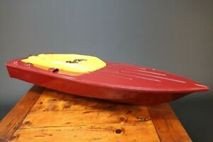 RC Boat Hull Fibreglass Model Powerboat Cougar 38 Inches Long Vintage Project