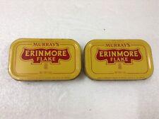 MURRAY'S ERINMORE FLAKE Pineapple Logo Pipe Tobacco Tin Container x 2pcs  #3