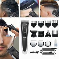 Hair Cutting Kit Machine Clippers Trimmer Professional Tools Grooming Set USA