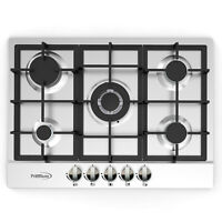 Premium 28'' Stainless Steel 5 Burners Built-in Stove Propane GAS frontal Panel.