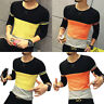 Fashion Men Slim Fit O Neck Long Sleeve Muscle Tee T-shirt Casual Tops Blouse