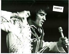 Elvis Presley 8 X 10 B/W Action Photo On Stage In Las Vegas 1970 & Free Cd!