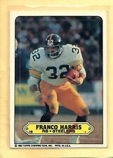 """FRANCO HARRIS 1983 83 Topps """"Sticker"""" #15 - Pittsburgh Steelers- Shipping"""