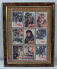 Planet of the Apes 1974 Vintage Playing Cards Framed Mint Condition