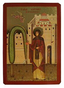 SAINT IRENE CHRYSOVALANTOU, FULL BODY-Greek Byzantine Orthodox Icon