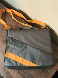 """NEW Jansport Shoulder 15"""" Laptop Messenger Bag Binder School - Gray/Orange"""