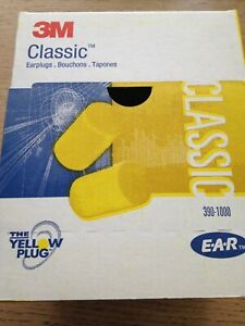 3M 390-1000 Classic, Earplugs (200 Pairs)