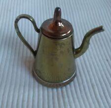 brass and copper miniture decorative teapot