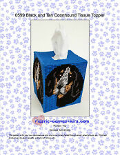 Black and Tan Coonhound Dog Tissue Topper-Plastic Canvas Pattern or Kit