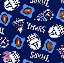 Tennessee Titans NFL Football Fleece Fabric 6218 D