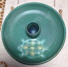 Handmade Studio Pottery;  single candle holder FLORIDA TURTLE image NICE