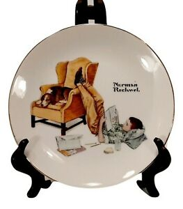 """Norman Rockwell Collector's Edition Plate The Student 6.5"""" Limited Edition Japan"""