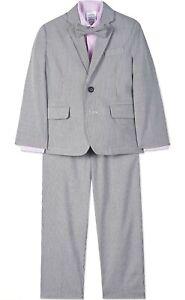 Calvin Klein Toddler Boys 4-Piece Formal Suit Set 2T/3T Sail Blue Pinstripe NWT