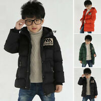 Kids Boys Children Toddler Warm Padded Winter Autumn Hooded Jacket Coats Outwear