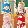 Baby Boy Girl Child Kids Winter Warm Knit Bobble Hat Beanie Cap+Snood Scarf XX