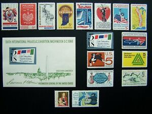 US STAMPS 1966 YEAR COMPLETE SET, SCOTT # 1306-1322. OG, MNH
