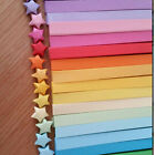 80 pcs Funny Origami Lucky Star Paper Strips Folding Paper Ribbons Colors Gift