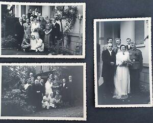 WW2 ORIGINAL PHOTO OF GERMAN WEHRMACHT WEDDING DAY x 3