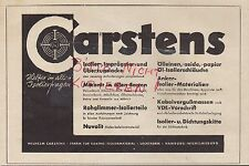 Hamburg advertising 1941 Wilhelm CARSTENS Factory electro-insulating material Paint Factory