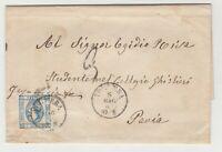 STORIA POSTALE - 1863 REGNO LITOGRAFICO C.15 I° TIPO PONTEDERA 8/5 E/2964