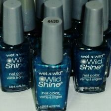 3 Bottle Of Original Wet n WILD - WILD SHINE Nail Polish BIJOU BLUE #443D Sealed