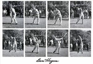Pro Golfer BEN HOGAN SWING Poster Photo Swing PGA Tour Print |2 x 3 FEET| 1