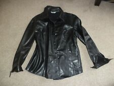 ladies black pvc style jacket/shirt marks and spencer size 16