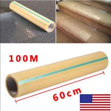 "24"" X 328' Roll Plastic Carpet Floor Protector Self Adhesive Protection Film"