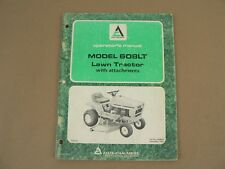 Allis Chalmers 608LT Lawn Tractor Owners Manual Maintenance Instructions 1976