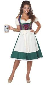 german girl costume/ green with red/medium length/ small