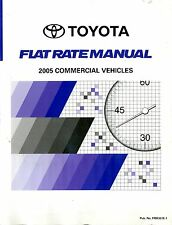 2005 TOYOTA FLAT RATE HANDBUCH MANUAL COMMERCIAL VEHICLES FRM307E-2