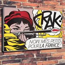 """Pop Art Printed Box Canvas A1.30""""x20""""-Deep 30mm Frame Roy Lichtenstein style V4"""