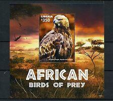 Liberia 2015 MNH African Birds of Prey 1v S/S II Golden Eagle