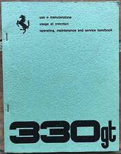 FERRARI 330 GT  Owner's Manual 1965 Twin Headlights SII